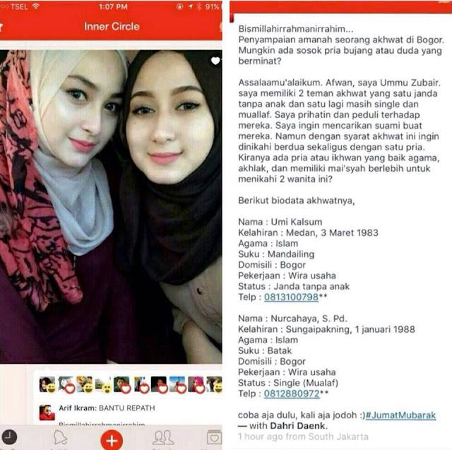 Dua Wanita Jelita Ini Menginginkan Suami Yang Sama dan Menikah Bersamaan, Siapa Minat?
