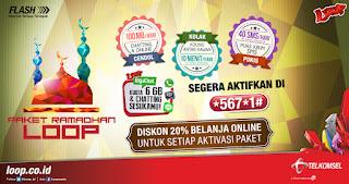 paket internet loop, paket loop ramadhan, paket RAFI, Loop Produk,