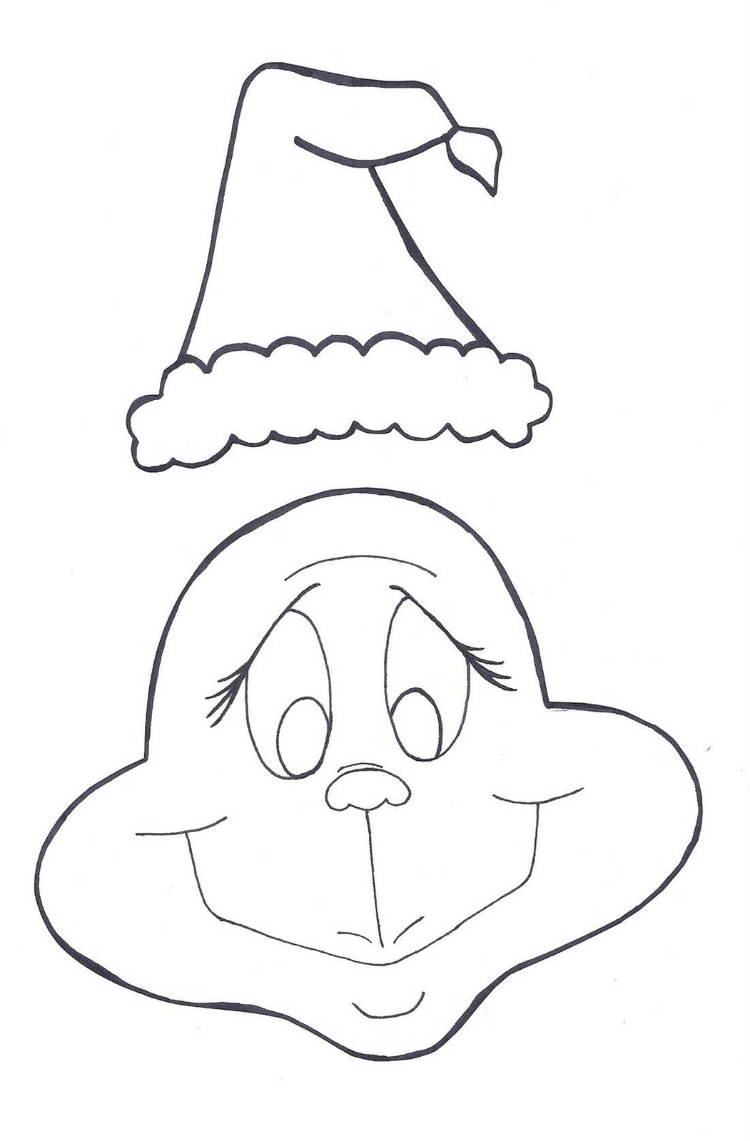 Coloring Pages Grinch Mask