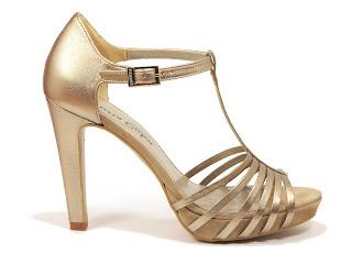 sandalias de fiesta en tono dorado