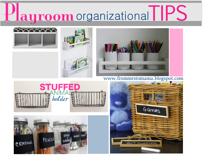 Playroom Organizational Tips