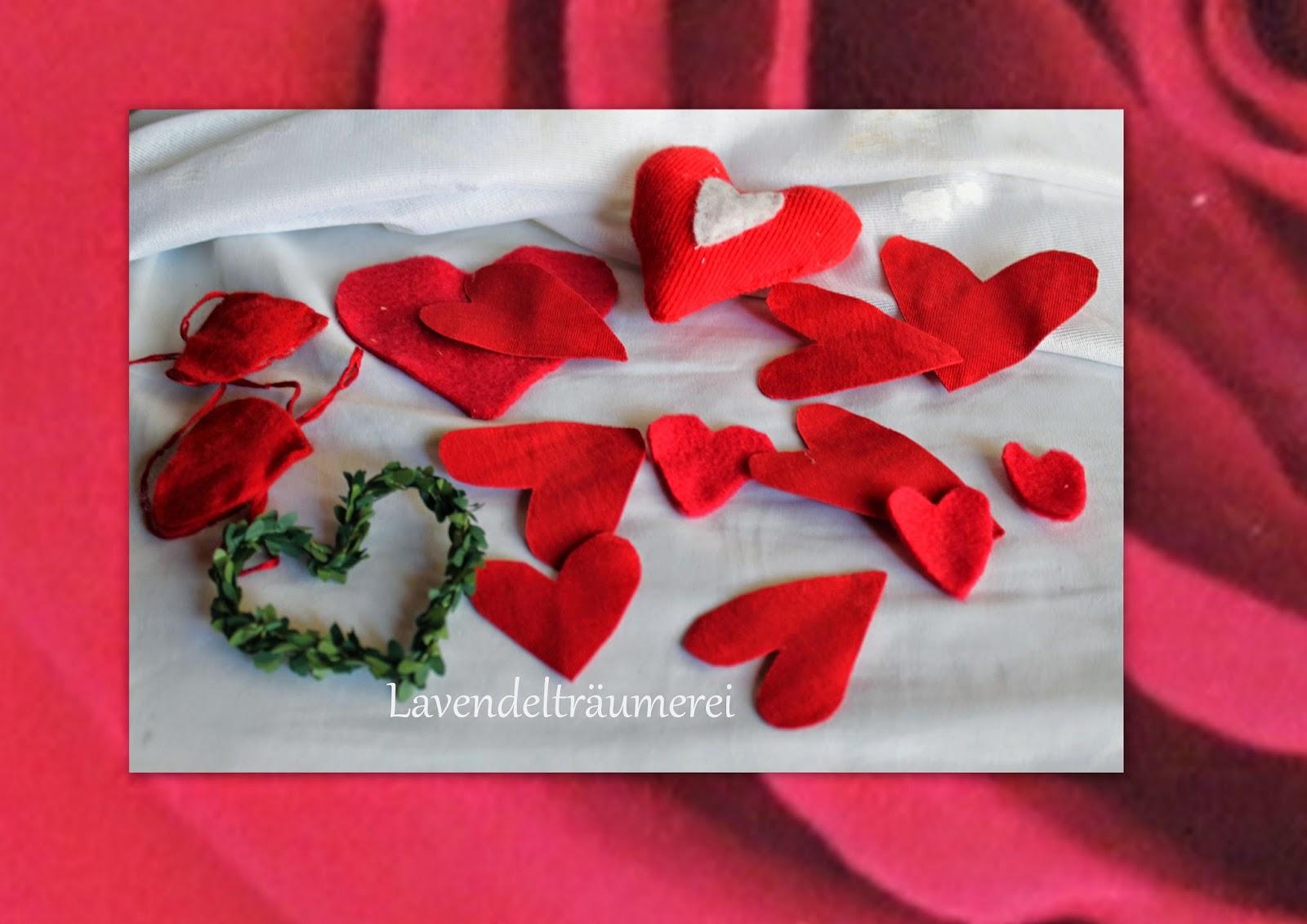 Rote Herzen Ein Symbol Der Liebe.