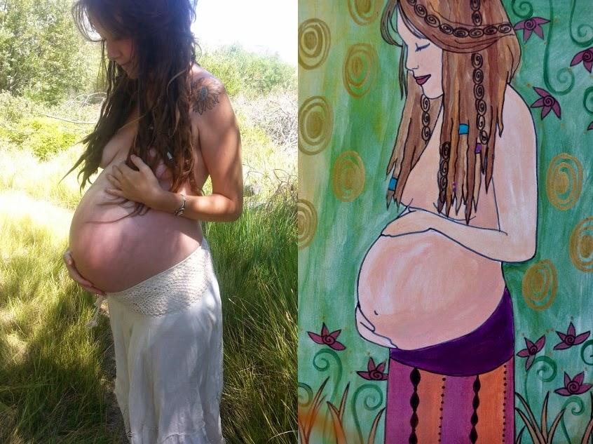 custom maternity painting pregnancy spiritysol catie atkinson