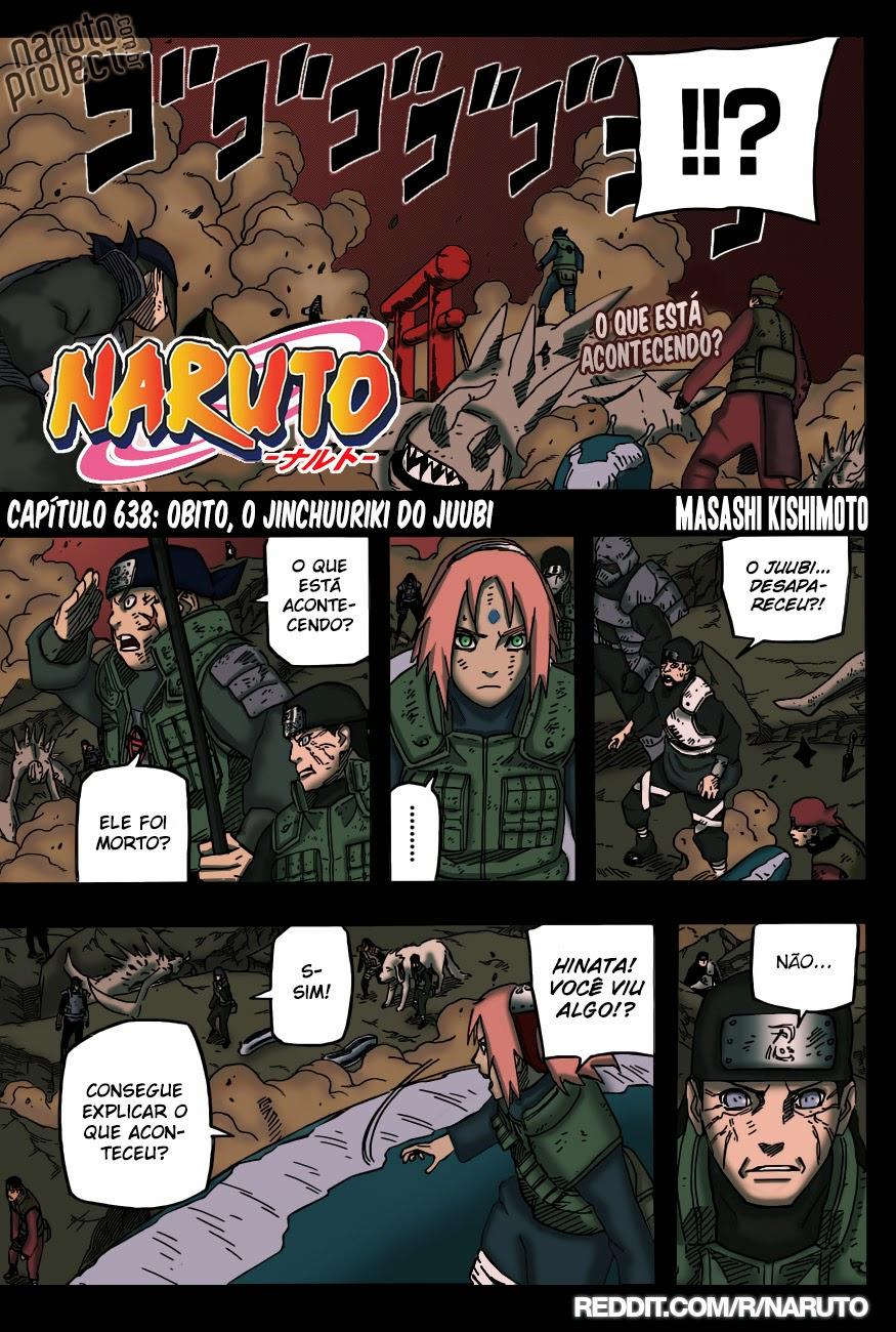 Naruto 638 Mangá Colorido em português leitura online