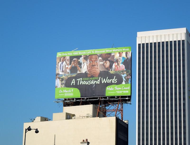 A Thousand Words movie billboard