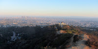 View south from the from near the summit Mt. Hollywood toward Los Angeles