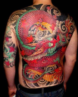 Back Piece Japanese Dragon Tattoo Design Collection