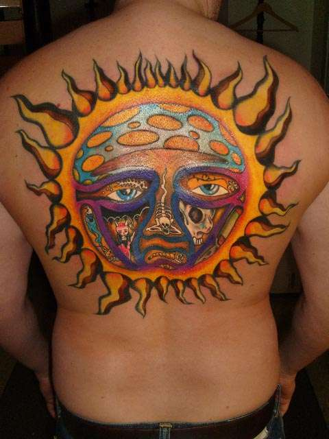Tattooing is their life sun tattoos for Tattoo of the sun