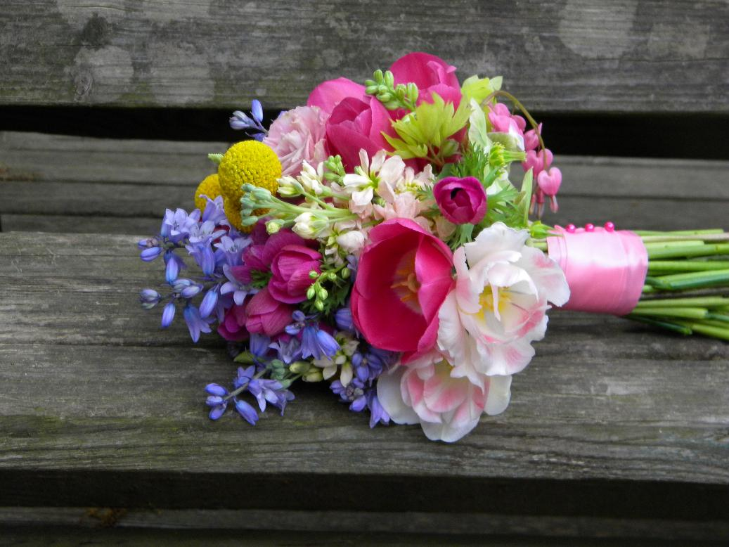 Wedding flowers from springwell spring time wedding flowers in hot pink spring time wedding flowers in hot pink mightylinksfo
