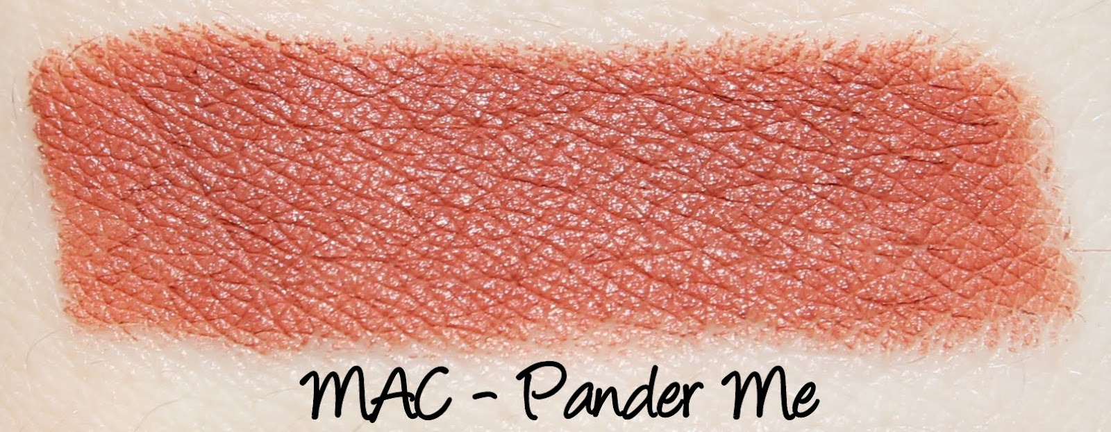MAC Pander Me Lipstick Swatches & Review