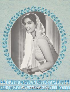Sonam kapoor Black And White - (2) - Sonam kapoor as Old Actress - Fan Made Pics