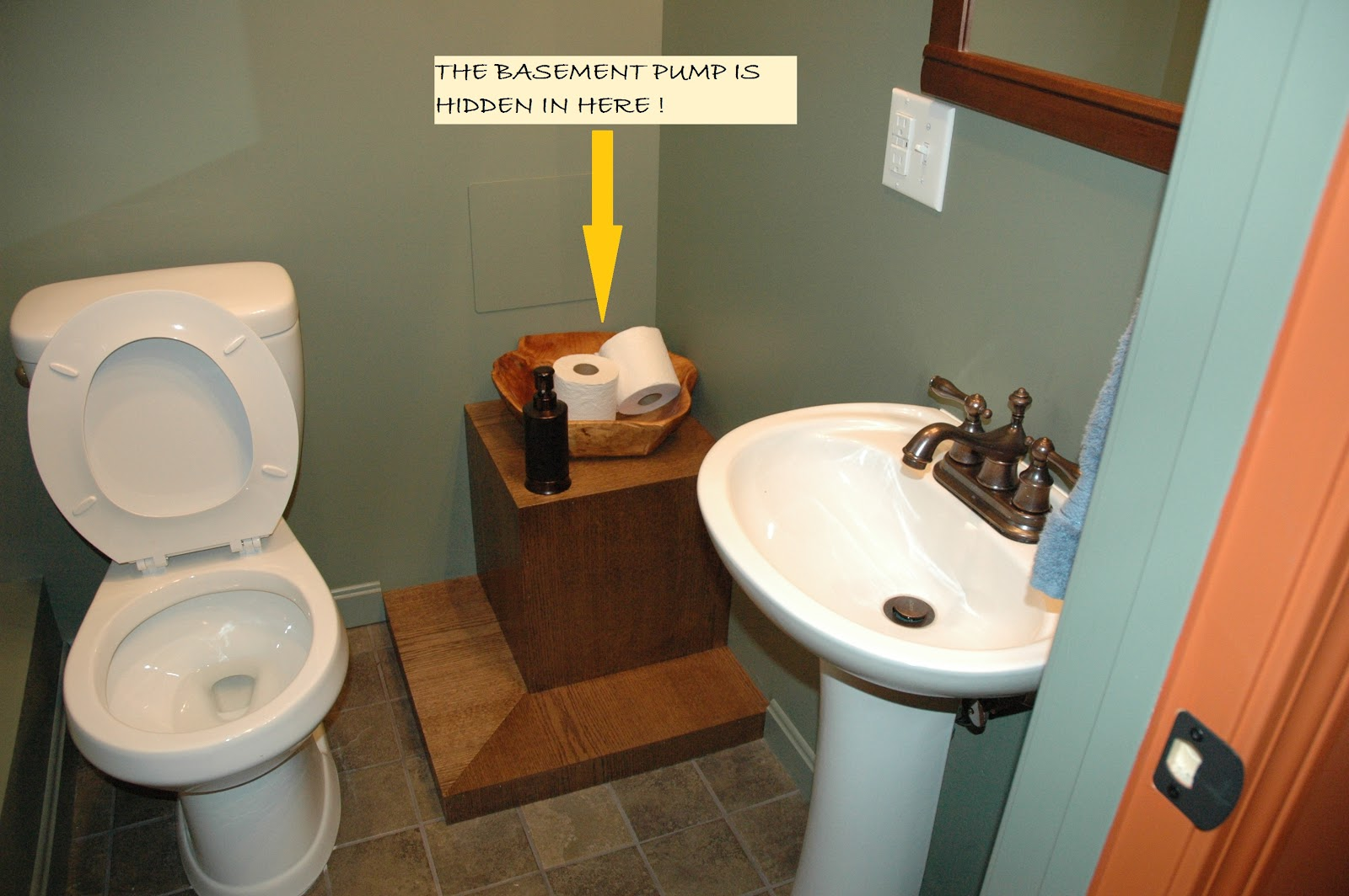 the standard sewer ejection pipe that would be housed in the bathroom