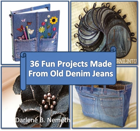 Let it shine 36 fun projects from old denim jeans for Denim craft projects