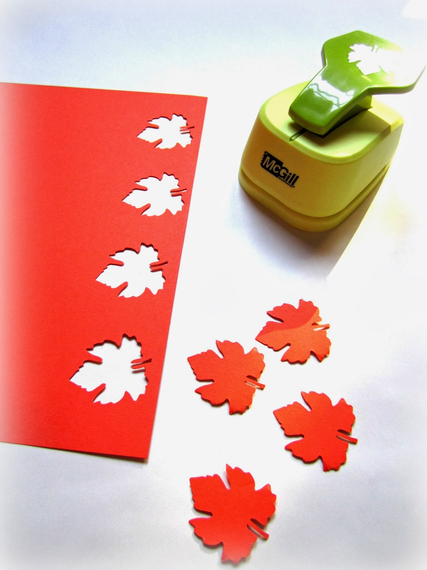 grape leaves paper punch