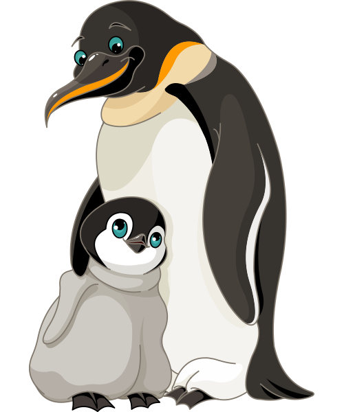 Penguin Family Love