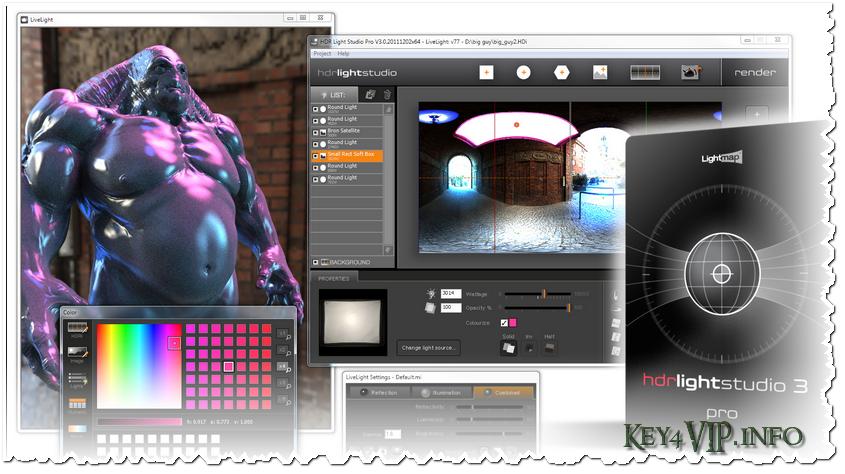 HDR Light Studio v4.3 Plugins Full,Hiệu chỉnh ánh sáng cho thiết kế 3D