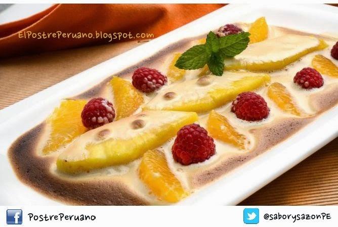 Frutas al sabayon postres con frutas recetas sencillas - Postres con frutas faciles ...