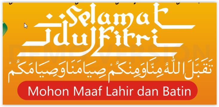 Persiapan Ucapan Selamat Idul Fitri (Lebaran) 2014 (1435 H)