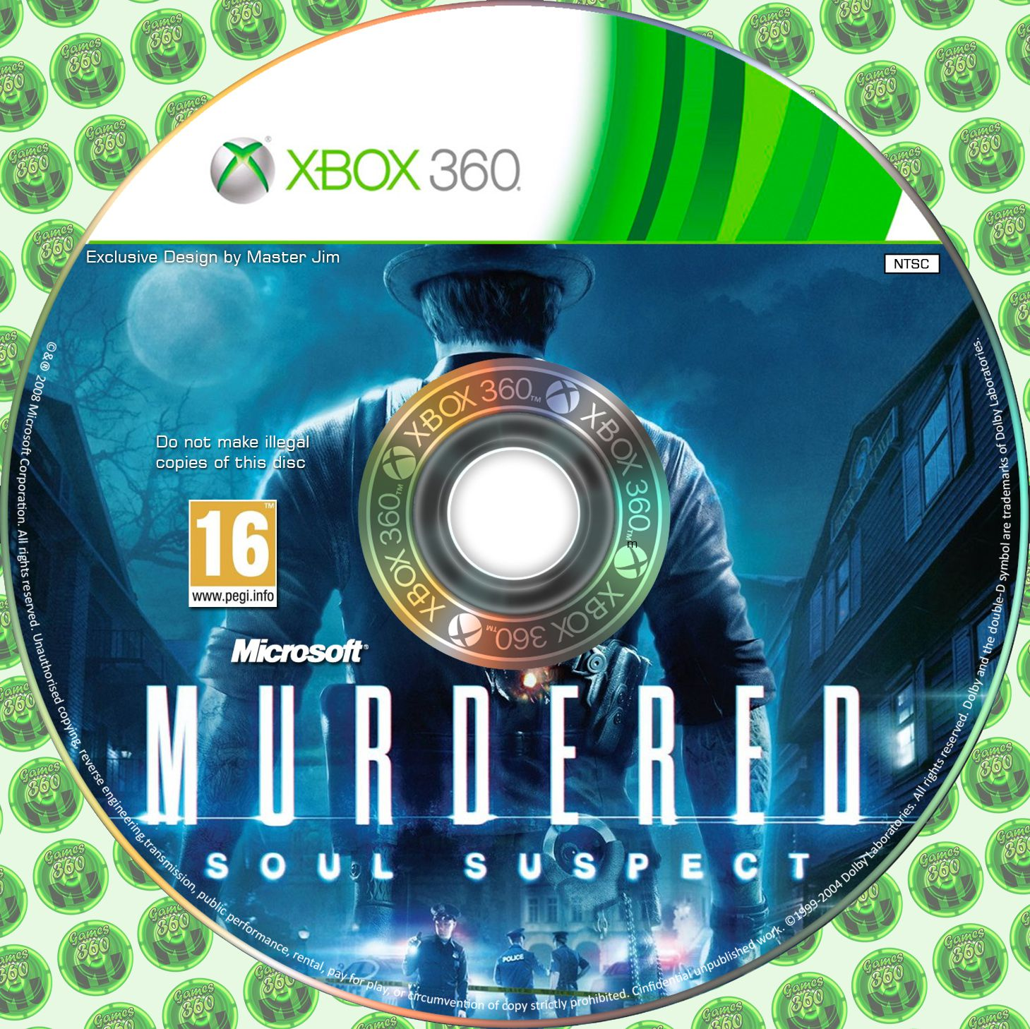 Label Murdered Soul Suspect Xbox 360