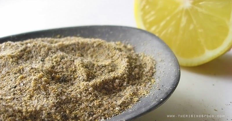 Homemade Lemon Pepper Seasoning (without sugar or additives)