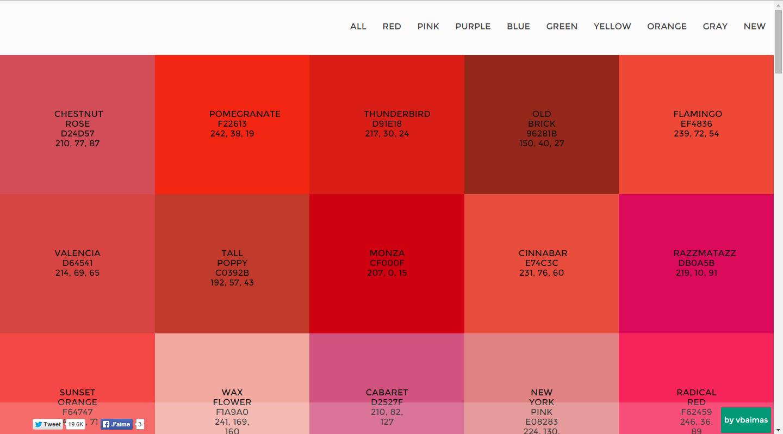 للمصممين : 3 مواقع للحصول على ألوان فلات