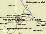 Mutianyu Great Wall Map