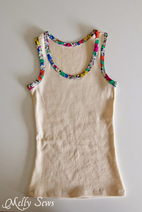 Bias Trim Tank Top sewing