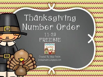 http://www.teacherspayteachers.com/Product/Thanksgiving-Number-Order-FREEBIE-1546041