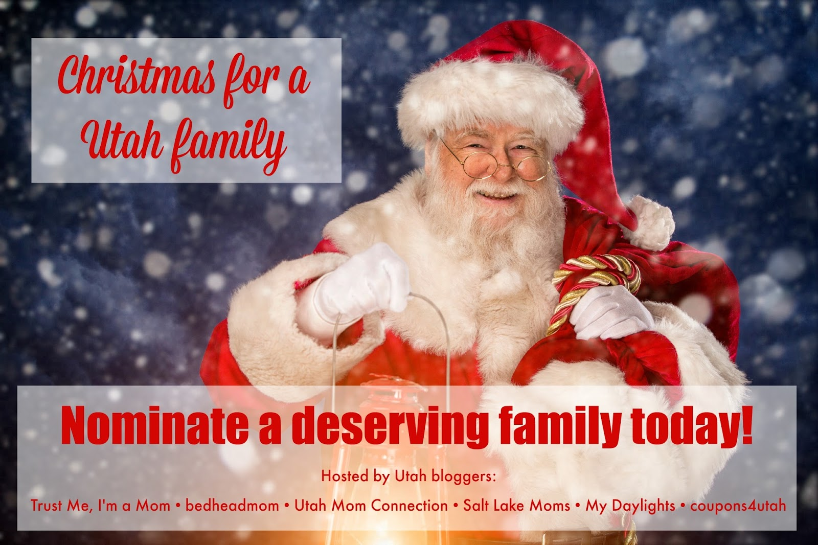 first of all we are in need of nominations of a deserving family we are looking for a family with children who lives within 25 miles of salt lake city