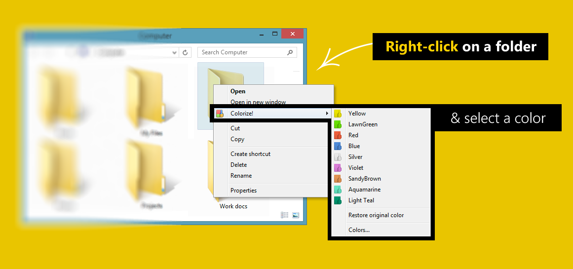 تحميل برنامج تغيير لون المجلدات Folder colorizer مجانا