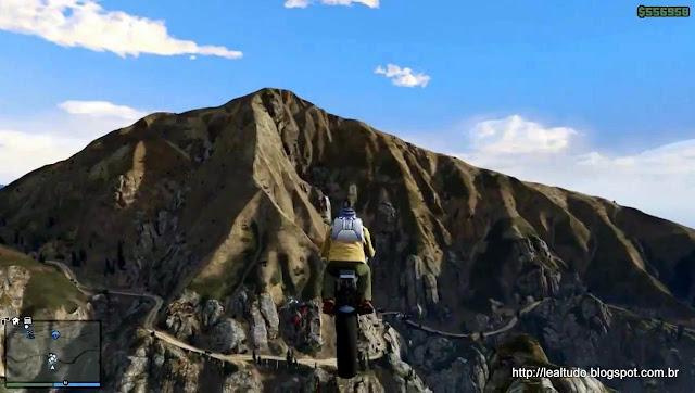 Grand Theft Auto Online Moto Bike Jump Mountain - Salto Montanha