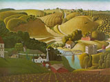 Grant Wood (39 años) - Stone City Iowa (1930)