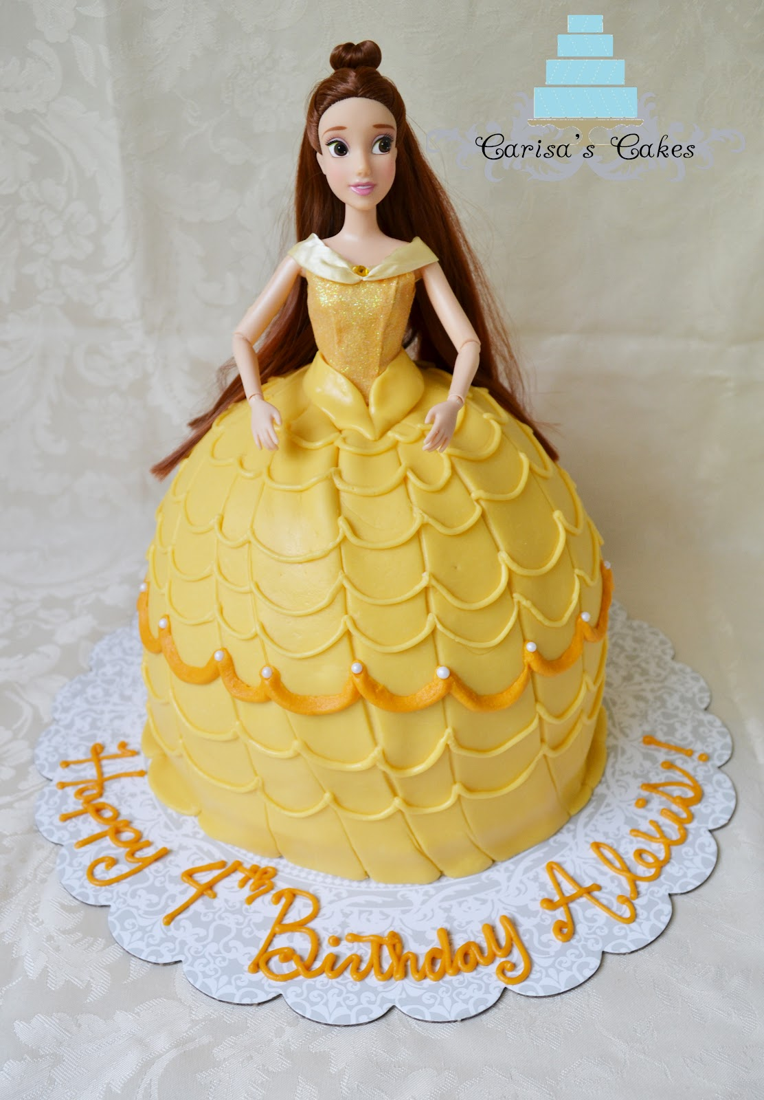 Carisa S Cakes Belle Barbie Cake And Cupcakes