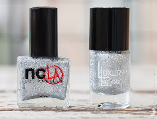 NCLA Elegantly Punk vs. Catrice Luxury Lacquers Million Brilliance C01 BRIGHTsmaid