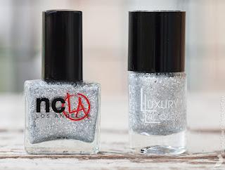 NCLA Elegantly Punk vs. Catrice Luxury Lacquers Million Brilliance C01 BRIGHTsmaid
