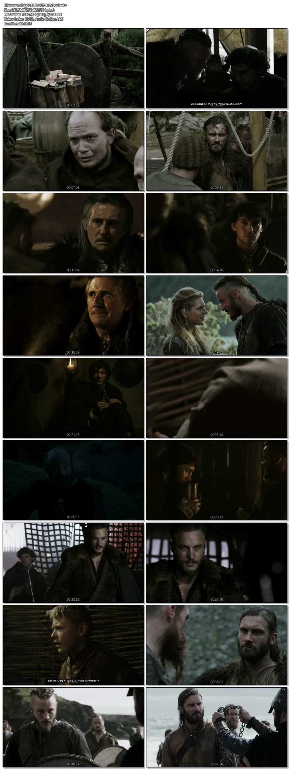 Screenshots Of Hindi Dubbed Show Vikings 2013 Season 01 Episode 03 300MB 720P HD