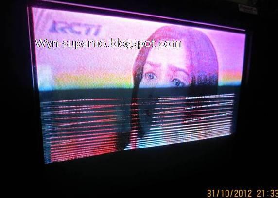 ... tv yang gambarnya bergaris khususnya kali ini pada tv sharp alexander