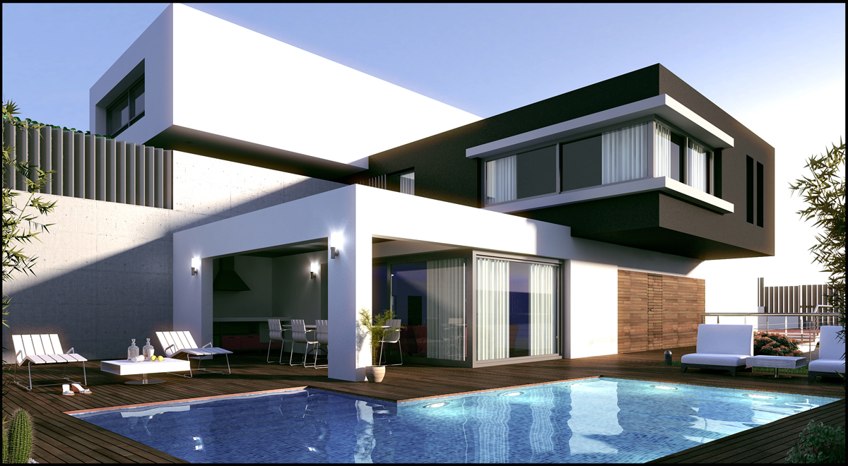 Casas modernas dos diferentes estilos de casas modernas for Estilos de casas modernas