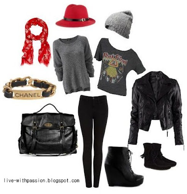 polyvore rock style
