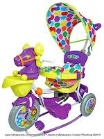 Sepeda Roda Tiga Royal RY9088CJ Baby Hors Kuda Jok Kain