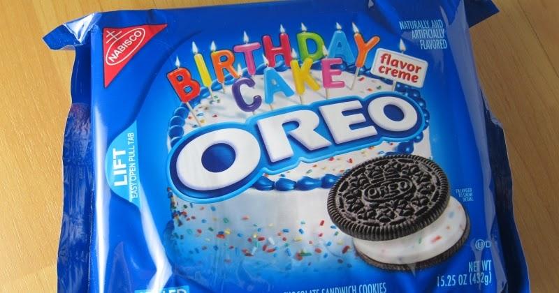 Review Nabisco Birthday Cake Oreo Cookies Brand Eating