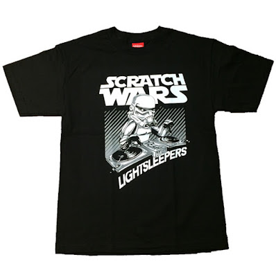 "Star Wars: The Force Awakens Hip-Hop T-Shirts by Lightsleepers - ""Scratch Wars"""