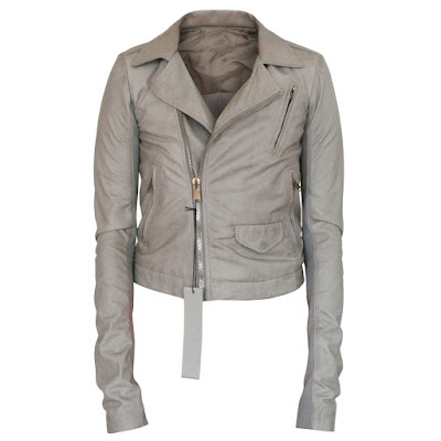 rick owens lamb leather stooges short jacket