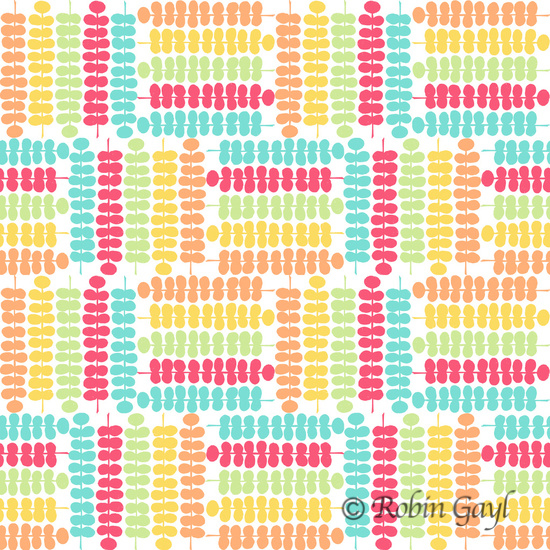 Colorful vines abstract pattern