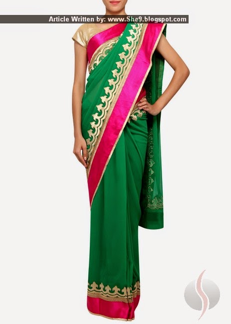 Indian Chiffon Saree Designs 2015-2016