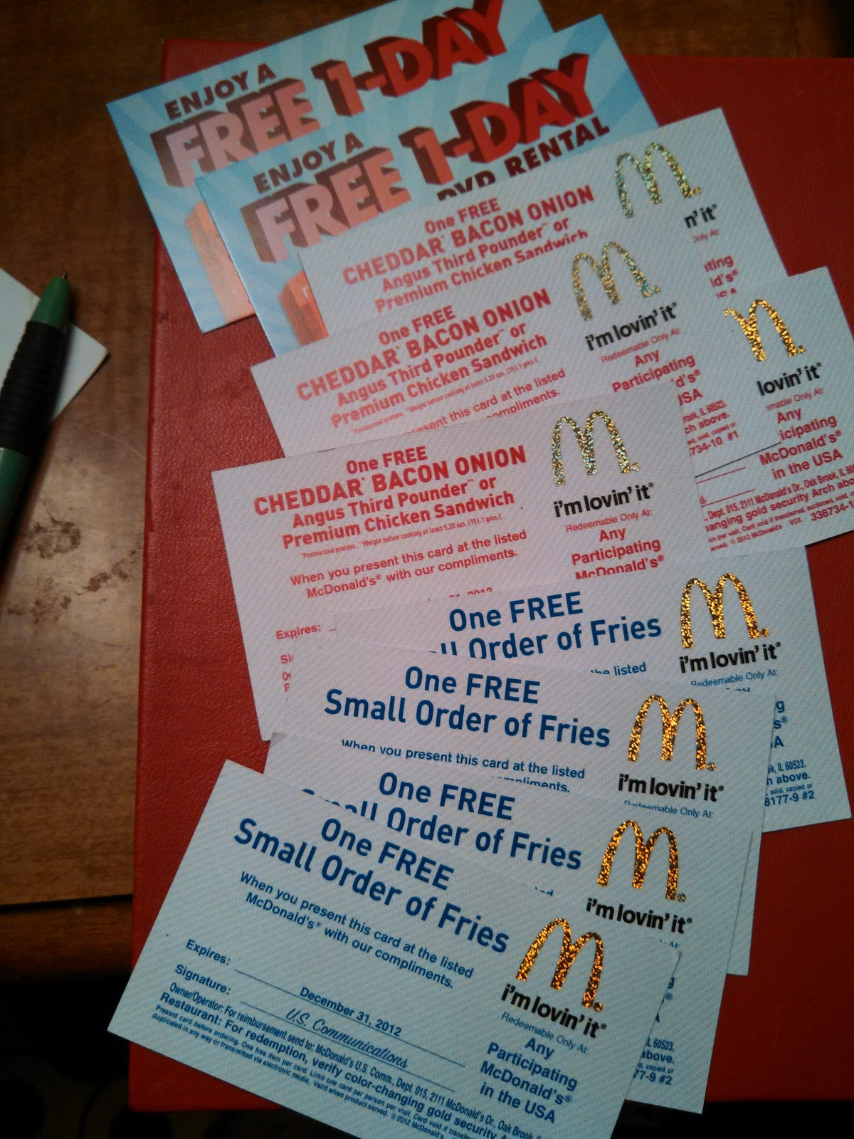 Free Is My Life Giveaway Win Family 4 Pack Of Mcdonalds Cbo