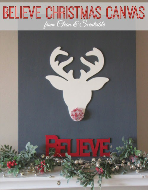 Believe Canvas christmas art