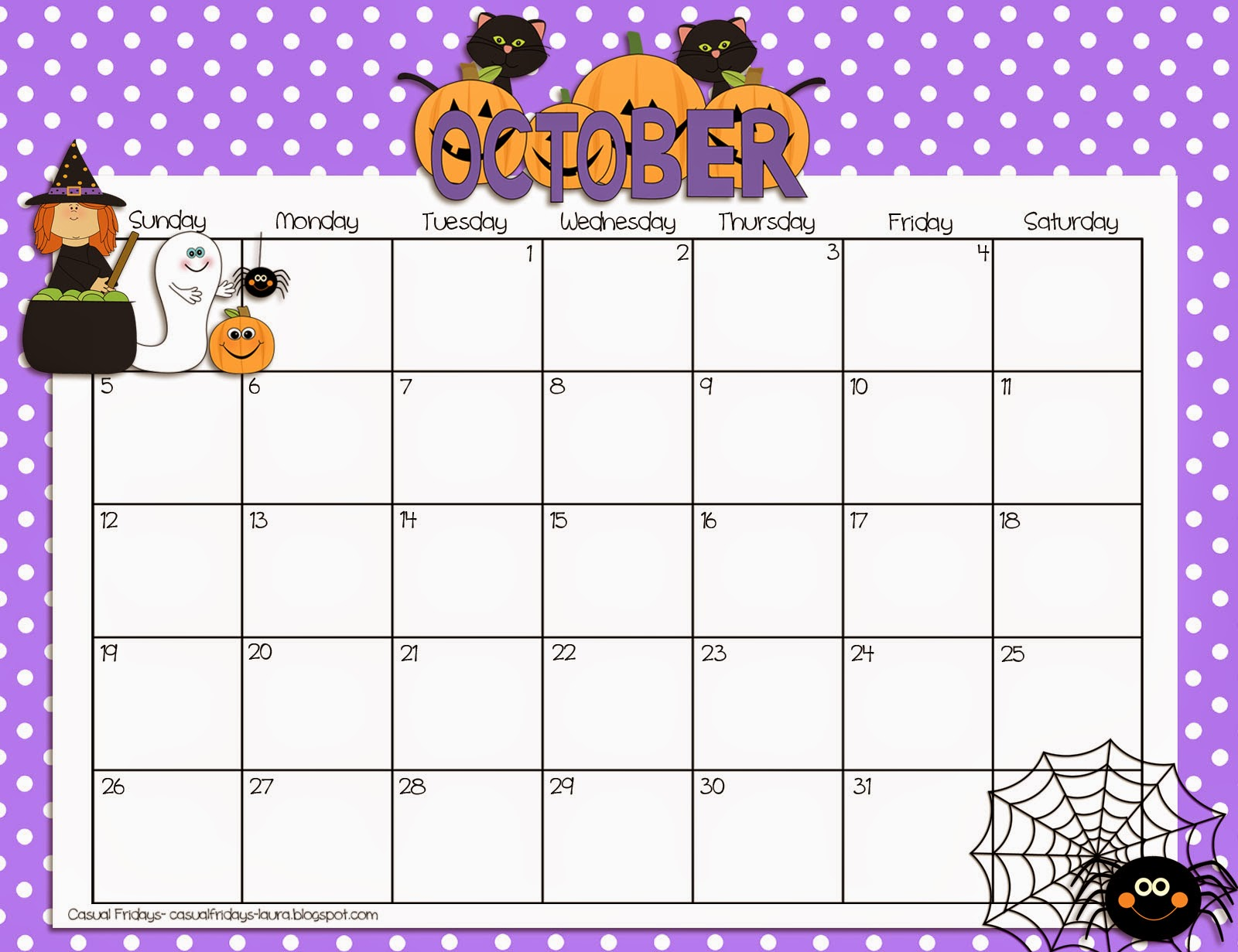 Printable Editable October 2015 Calendar | Calendar Template 2016