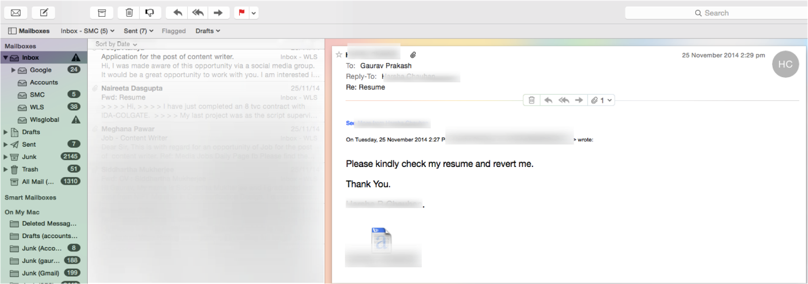 how to write a proper job application email
