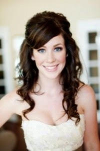 Bridal Hair Half up Half Down With Fringe